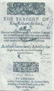 Portada del primer quarto publicado en 1597