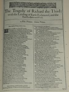Ricardo III en el First Folio de 1623