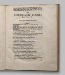Midsummer nights dream 2nd quarto 1619