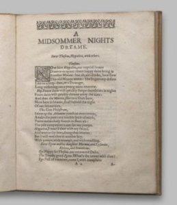 Midsummer nights dream 2nd quarto 1619