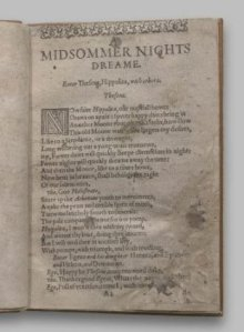 Midsummer nights dream  1st. quarto 1600