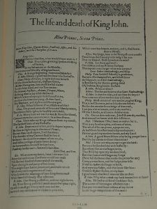 The Life and Death of King John 1590