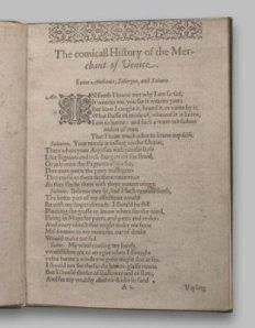 The Merchant of Venice 1st Quarto 1600