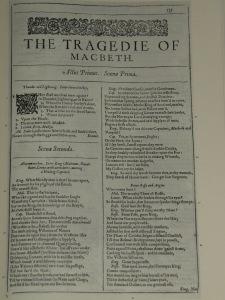 Macbeth se publicó por vez primera en el First Folio