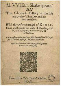 King Lear ist quarto
