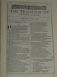 First Folio Julius Caesar 1599