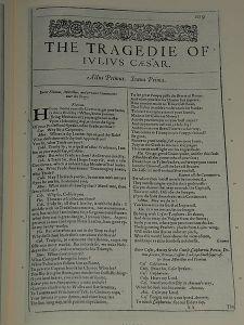 First Folio Julius Caesar 1599