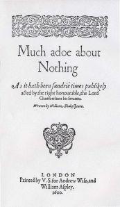 Much Ado Quarto 1598-99